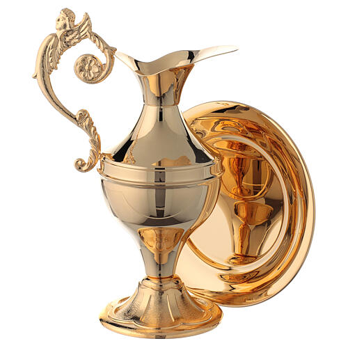 Ewer for hand washing ritual, gold plated brass 1