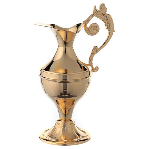 Ewer for hand washing ritual, gold plated brass 2