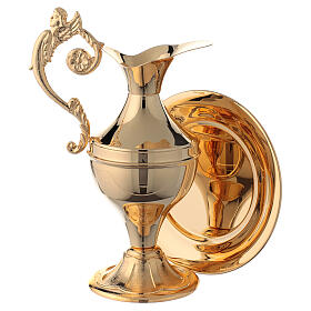 Gold plated brass ewer for hand washing ritual s1