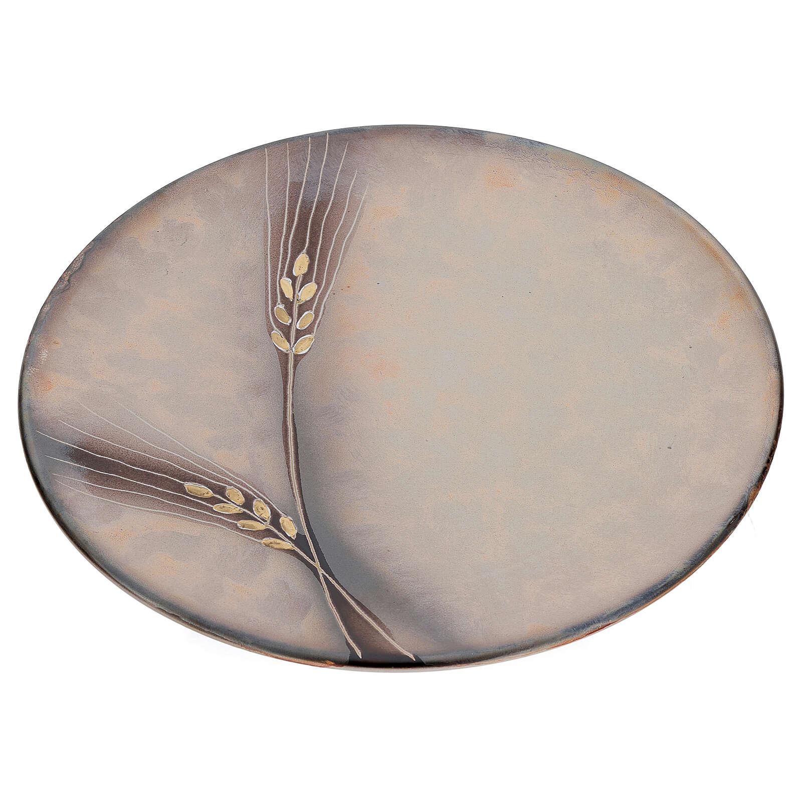 STOCK Assiette aiguière céramique Pompéi 25 cm 3