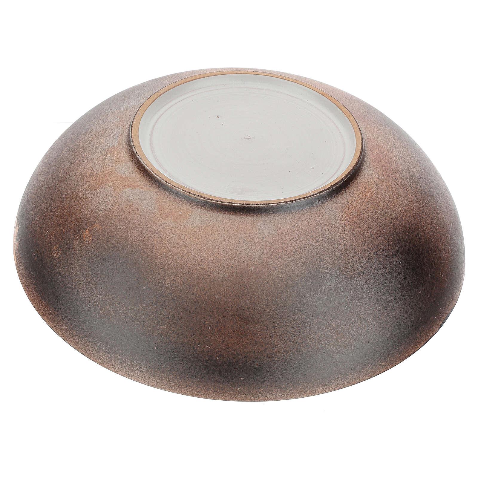 Piatto brocca concavo ceramica Pompei 30 cm 3