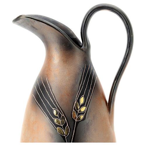 Aiguière céramique Pompéi décoration épi doré h 32 cm 2