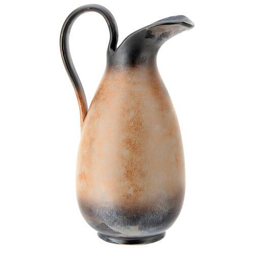 Aiguière céramique Pompéi décoration épi doré h 32 cm 5