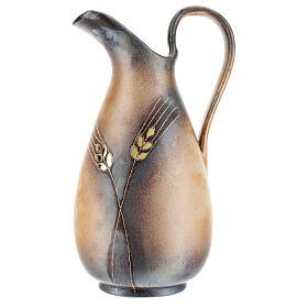 STOCK Brocca ceramica Pompei decoro spiga dorata h. 32 cm s1