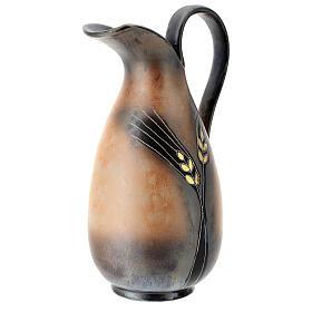 STOCK Brocca ceramica Pompei decoro spiga dorata h. 32 cm s4