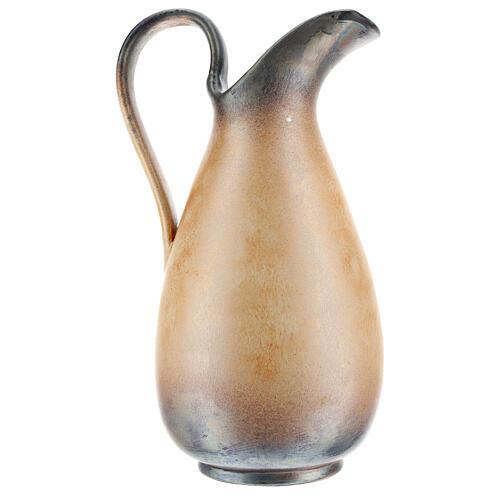 STOCK Brocca ceramica Pompei decoro spiga dorata h. 32 cm 5