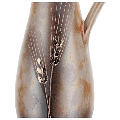 STOCK Jarra cerâmica Pompéia decoro trigo dourado h 32 cm 2