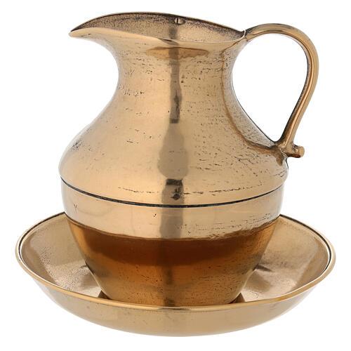 Ewer in brass, antique gold effect 1