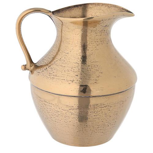 Ewer in brass, antique gold effect 2