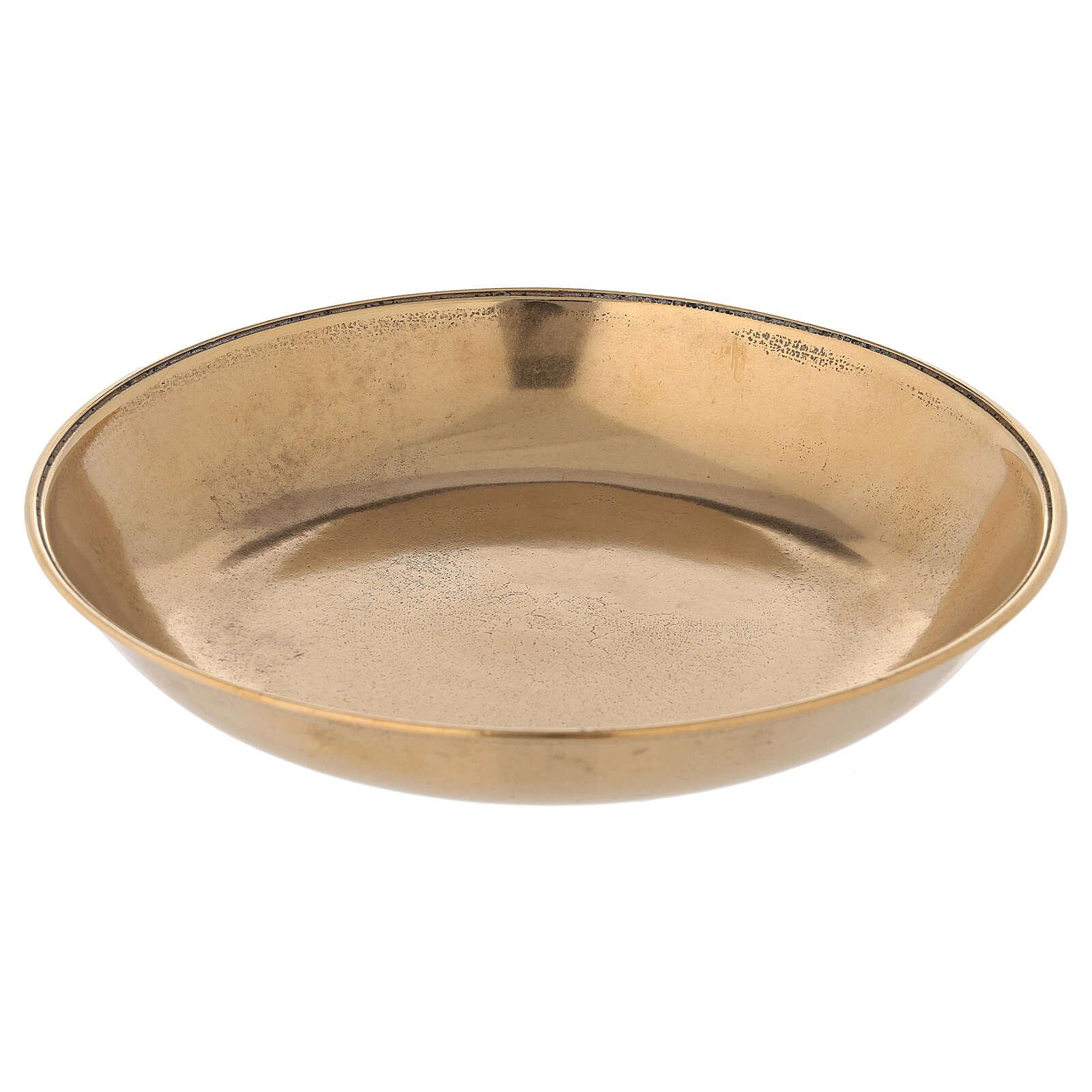 Jarra para lavagem das mãos em latão dourado antigo 3