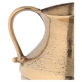 Jarra para lavagem das mãos em latão dourado antigo s3