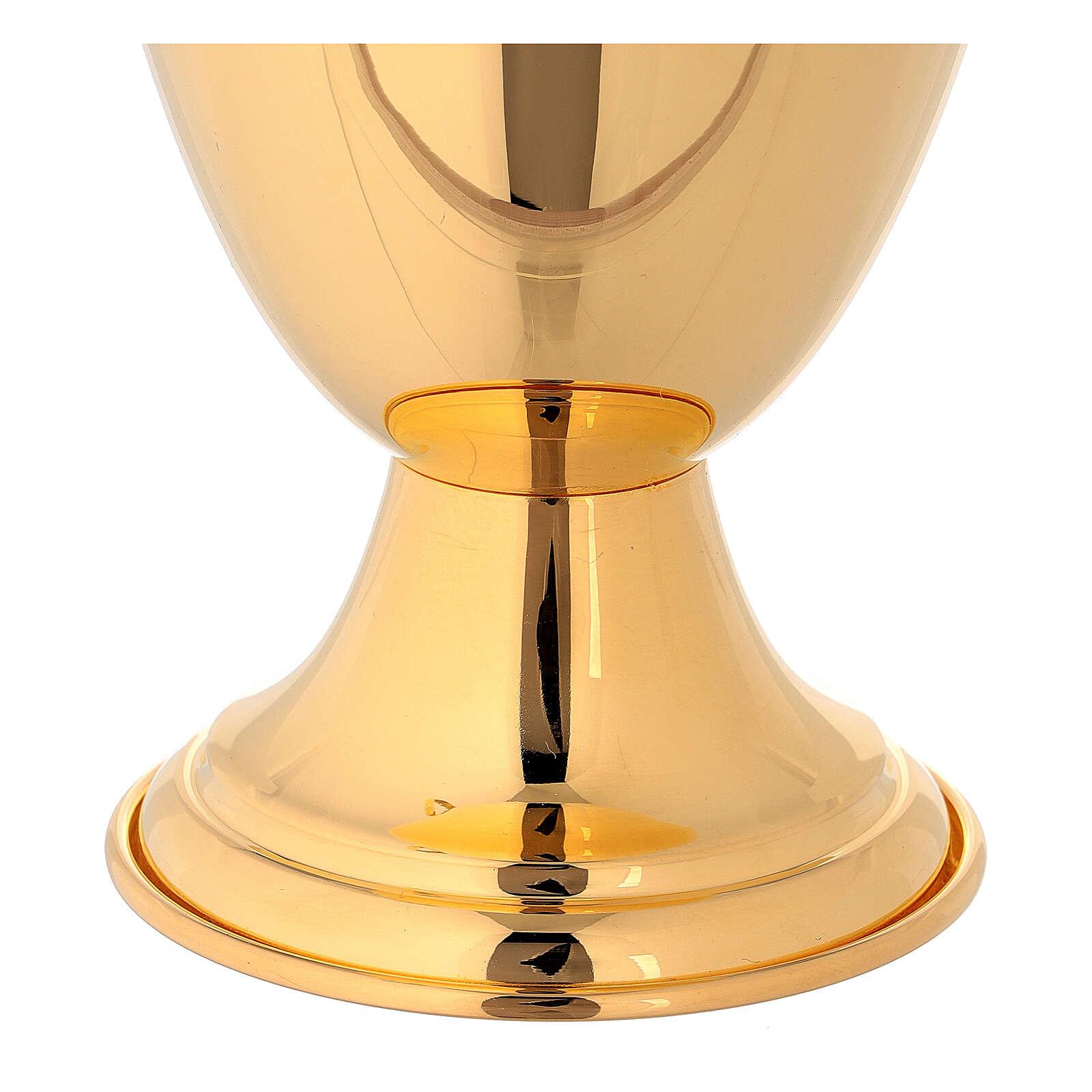 Jarra para lavagem das mãos clássica dourada 3
