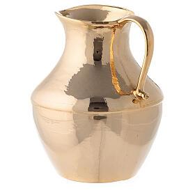 Aiguière et bassin pour manuterge en laiton doré brillant s6