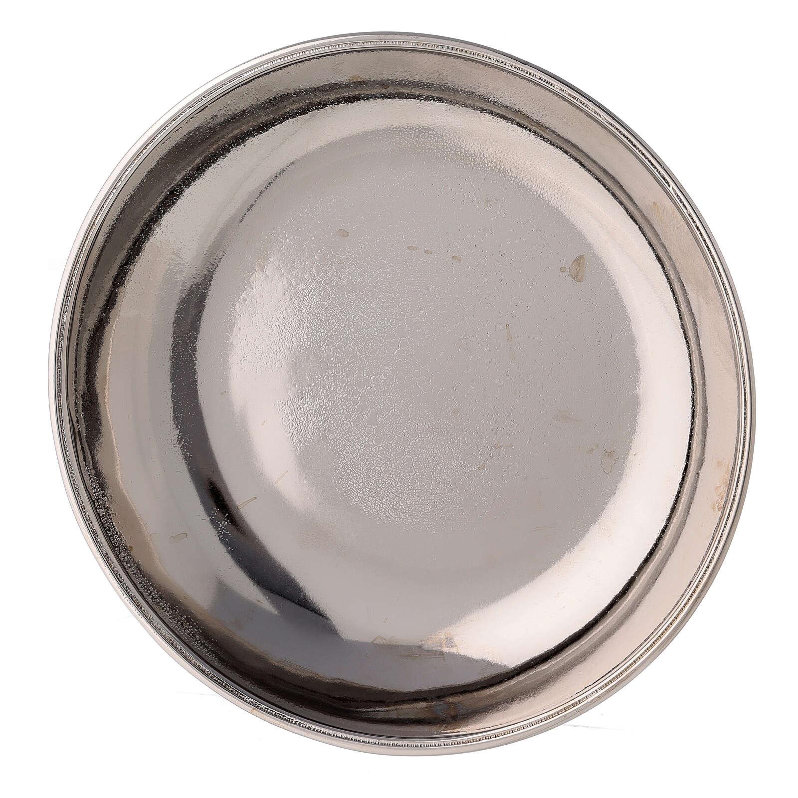 Jarra y plato para manutergio de latón niquelado lúcido 3