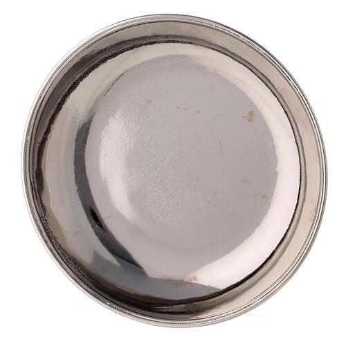 Jarra y plato para manutergio de latón niquelado lúcido 5