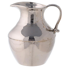 Polished nickel-plated brass ewer and basin s2