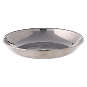 Polished nickel-plated brass ewer and basin s4