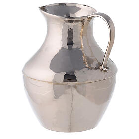 Polished nickel-plated brass ewer and basin s7
