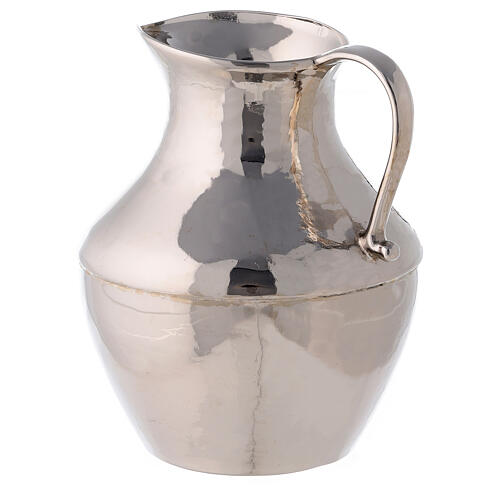 Polished nickel-plated brass ewer and basin 7