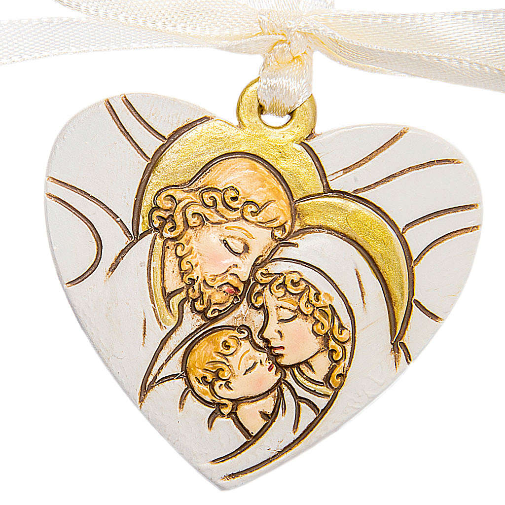 Bomboniera Matrimonio Cuore Appendino S. Famiglia 4 cm 3