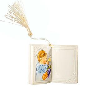 Bomboniera Comunione Bimbo Libro Lucido 7 cm s1