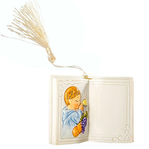 Bomboniera Comunione Bimbo Libro Lucido 7 cm 1