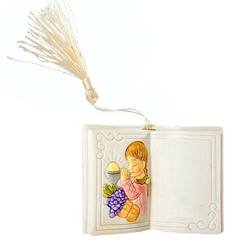 Lembrança comunhão menina livro 7 cm 1