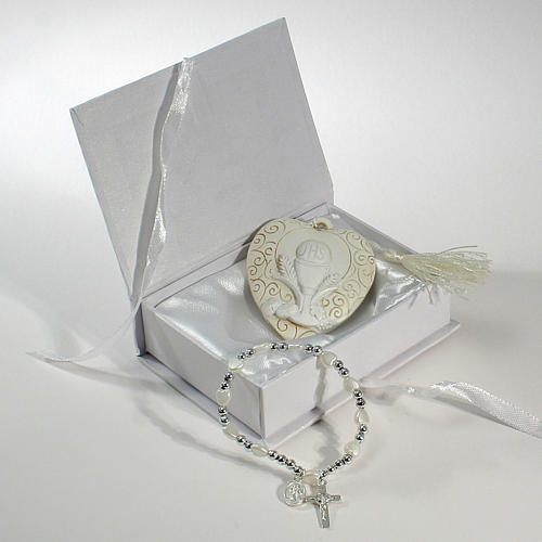 Bomboniera Comunione scatola Bracciale e quadretto Calice 1