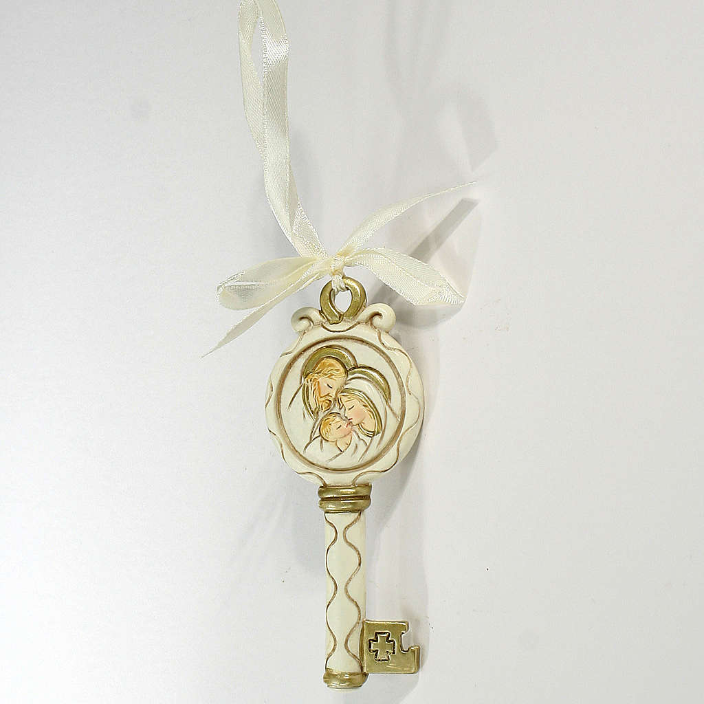 Key ribbon Holy Family 10cm 3