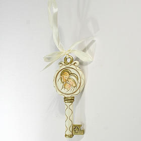 Key ribbon Holy Family 10cm s1