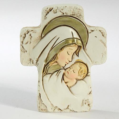 Ricordino Nascita Croce da appoggio Maternità 8,5X7 cm 1