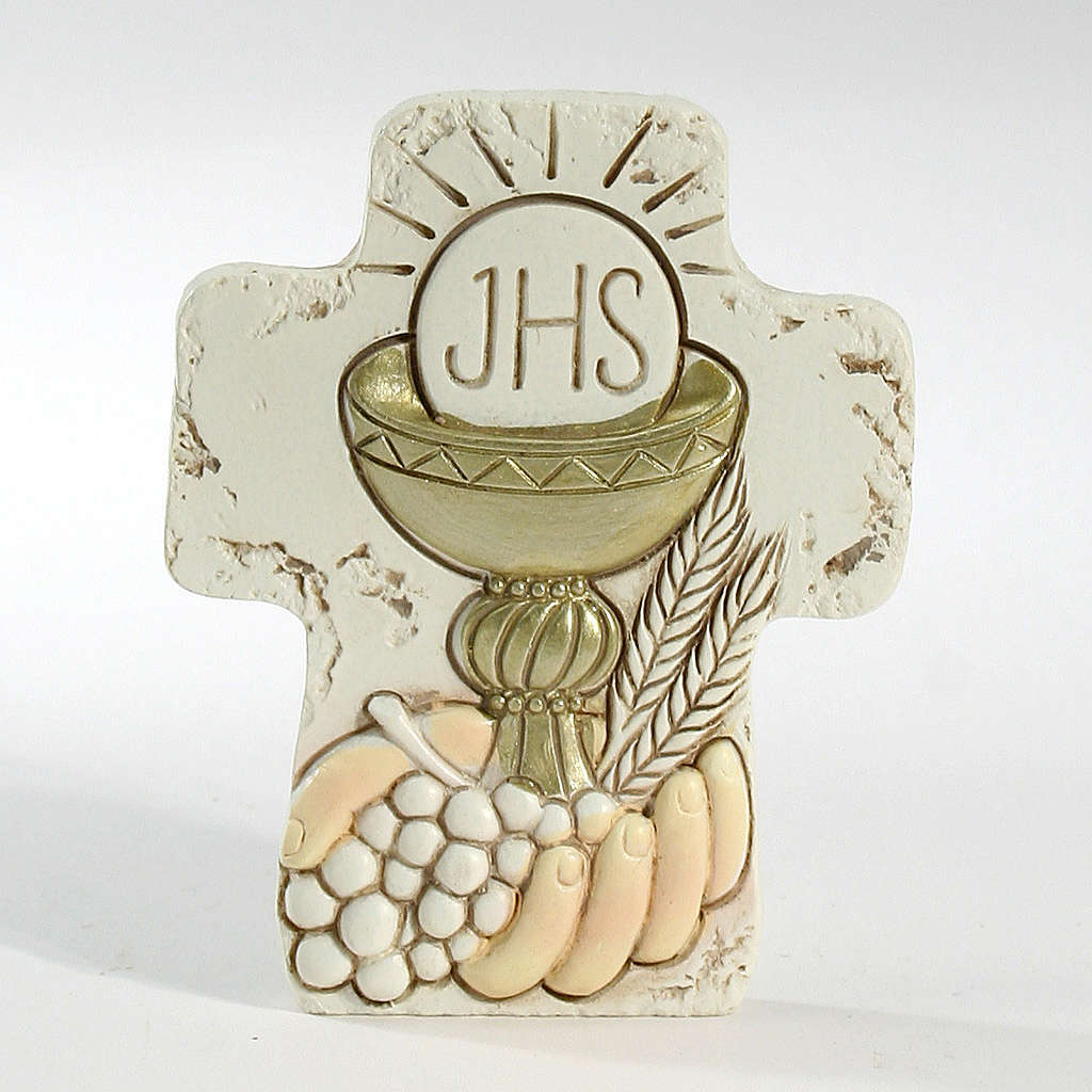 Cross with support Holy Communion 8,5x7cm 3