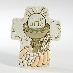 Cross with support Holy Communion 8,5x7cm s1