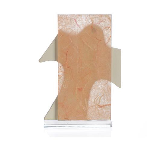 Obrazek krzyż  święta Rodzina bursztyn 11,5x8 cm 2