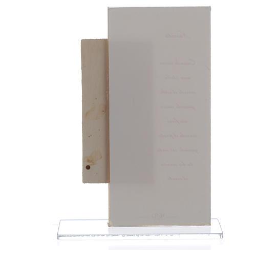 Quadretto Angelo con stampa h. 15,5 cm 2