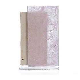 Cuadro Ángeles papel seda rosa 11,5 cm s2