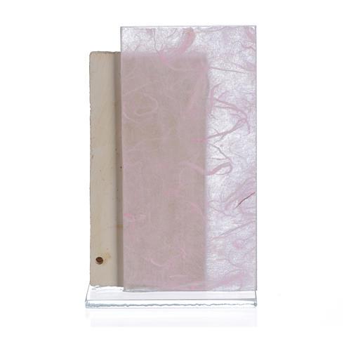 Cuadro Ángeles papel seda rosa 11,5 cm 2