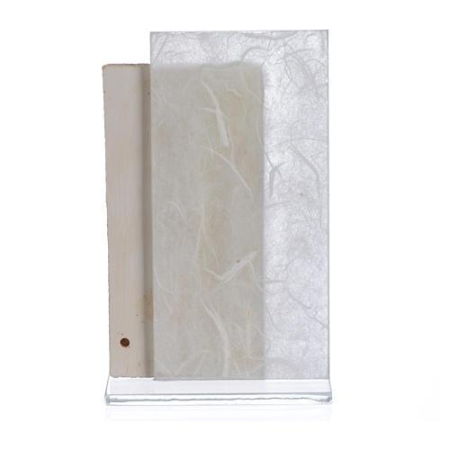 Recuerdo Comunión niño papel seda Blanco 11,5 cm 2
