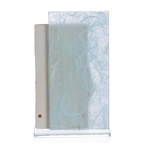 Ricordino Nascita Quadretto Maternità carta seta Celeste 11,5 cm 2