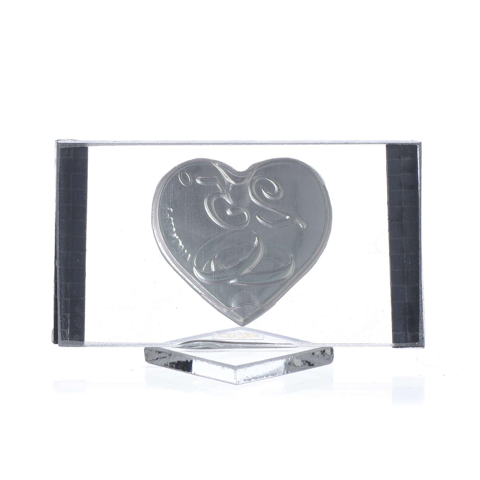 Bomboniera Anniversario 25 anni Quadro argento cm 4,5x7 3