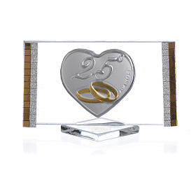 25 year anniversary favour, picture measuring 4.5x7cm s1
