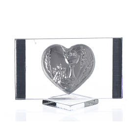 Recuerdo Comunión Rectangular Corazón 4,5x 7 cm s2