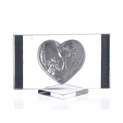 Recuerdo Comunión Rectangular Corazón 4,5x 7 cm 2