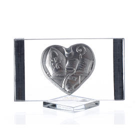 Confirmation favour, picture with heart measuring 4.5x7cm s2