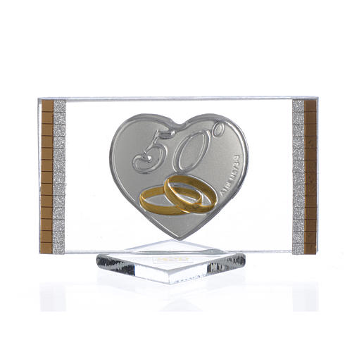 50 year anniversary favour, picture measuring 4.5x7cm 1