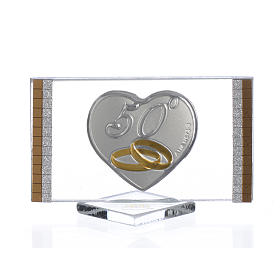 50 year anniversary favour, picture measuring 4.5x7cm s1