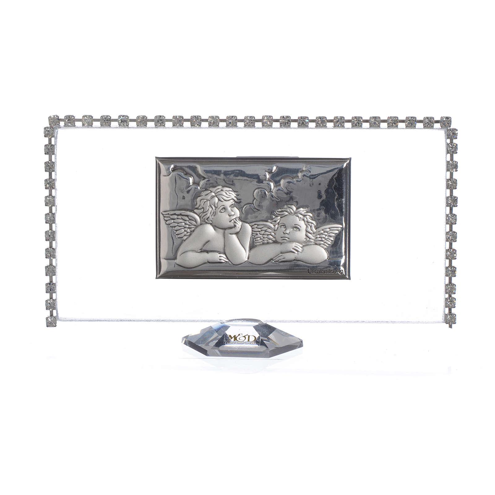 Obrazek  Anioły brokat 12x6cm 3
