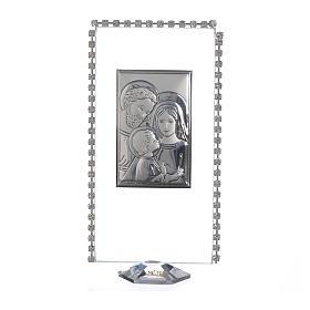 Pamiątka obrazek z podstawką święta Rodzina brokat 12x6cm s1