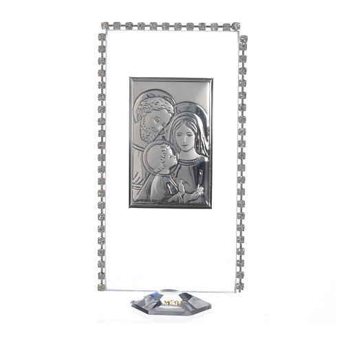 Pamiątka obrazek z podstawką święta Rodzina brokat 12x6cm 1