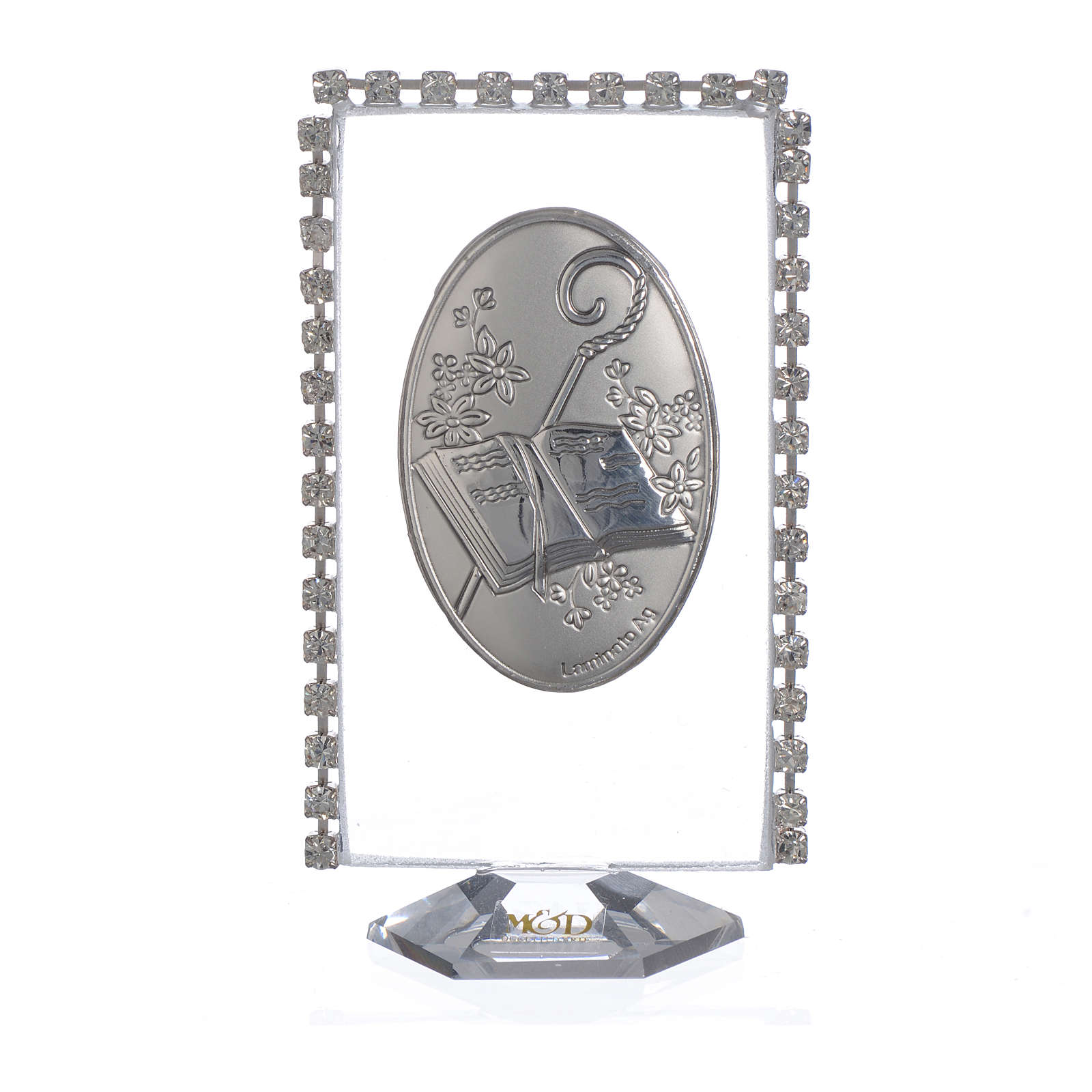 Cadre ovale Confirmation et strass 8x4,5 cm 3